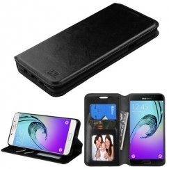 Samsung Galaxy A7 Black Wallet with Tray