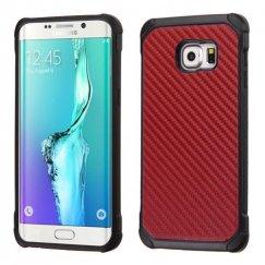 Samsung Galaxy S6 Edge Plus Red Carbon-Fiber Backing/Black Astronoot Case