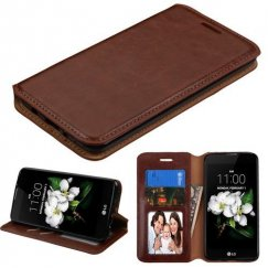 LG K8 Brown Wallet with Tray