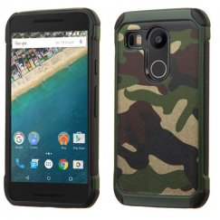 LG Nexus 5X Camouflage Green Backing/Black Astronoot Case
