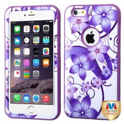 Apple iPhone 6 Plus Purple Hibiscus Flower Romance/Electric Purple Hybrid Case