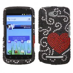 Coolpad Quattro 4G Curve Heart Diamante Case