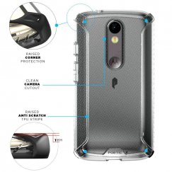 POETIC Affinity Series Premium Case for Motorola Droid Turbo 2- Frosted Clear/Clear