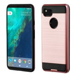 Google Pixel 2 XL Rose Gold/Black Brushed Hybrid Case