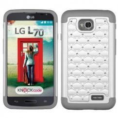 LG Optimus L70 Pearl White/Gray FullStar Case