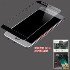 LG K10 Full Caseage Tempered Glass Screen Protector/Black