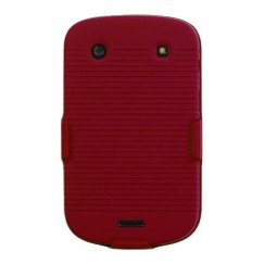 Blackberry Bold 9930 Rubberized Red Hybrid Holster