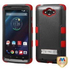 Motorola Droid Turbo Natural Black/Red Hybrid Case with Stand