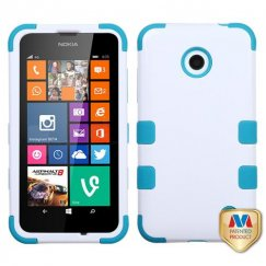 Nokia Lumia 635 Ivory White/Tropical Teal Hybrid Case