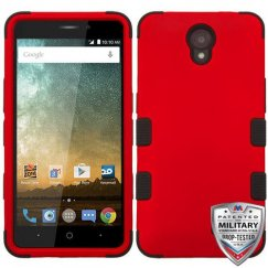 ZTE Prestige 2 Titanium Red/Black Hybrid Case Military Grade