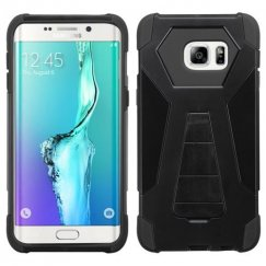 Samsung Galaxy S6 Edge Plus Black Inverse Advanced Armor Stand Case