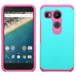 LG Nexus 5X Teal Green/Hot Pink Astronoot Case
