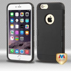 Apple iPhone 6 Plus Rubberized Black/Black Hybrid Case