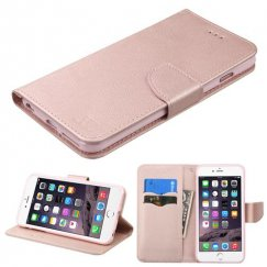 Apple iPhone 6 Plus Rose Gold Pattern/Rose Gold Liner wallet with Card Slot