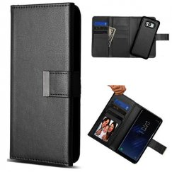 Samsung Galaxy S8 Black Detachable Magnetic 2-in-1 Wallet