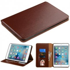 AppleiPad Mini 4th Gen Brown Wallet with Tray