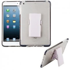 AppleiPad Mini 3rd Gen Transparent Clear/Black Bumper Sturdy Candy Skin Case with Detachable Stand