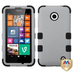 Nokia Lumia 635 Rubberized Gray/Black Hybrid Case