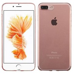 Apple iPhone 8 Plus Glossy Transparent Rose Gold Candy Skin Cover