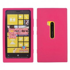 Nokia Lumia 920 Solid Skin Cover - Hot Pink