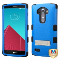 LG G4 Natural Dark Blue/Black Hybrid Case with Stand