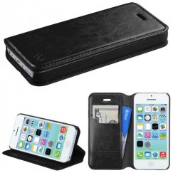 Apple iPhone 5c Black Wallet with Tray