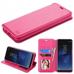 Samsung Galaxy S8 Hot Pink Wallet with Tray