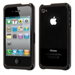 Apple iPhone 4s Gunmetal Surround Shield with Chrome Coating Metal