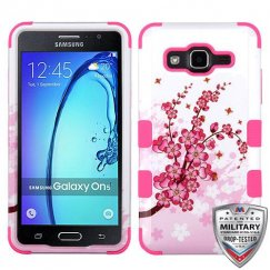 Samsung Galaxy On5 Spring Flowers/Electric Pink Hybrid Case