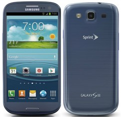 Samsung Galaxy S3 16GB SPH-L710 Android Smartphone for Sprint - Blue