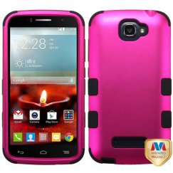 Alcatel One Touch Fierce 2 Titanium Solid Hot Pink/Black Hybrid Case