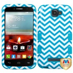 Alcatel One Touch Fierce 2 Blue Wave/Tropical Teal Hybrid Case