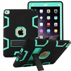 AppleiPad Air 2nd Gen Teal Green/Black Symbiosis Stand Protector Cover