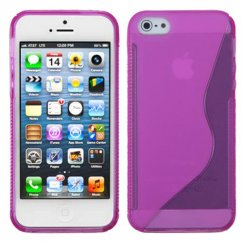 Apple iPhone 5c Hot Pink (S Shape) Candy Skin Cover