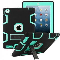 AppleiPad 1st Generation 2010 Teal Green/Black Symbiosis Stand Protector Cover