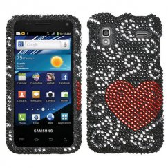 Samsung Captivate Glide Curve Heart Diamante Case