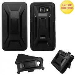 Samsung Galaxy A5 Black/Black Advanced Armor Stand Case with Black Holster