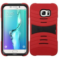 Samsung Galaxy S6 Edge Plus Black/Red Wave Symbiosis Case with Horizontal Stand