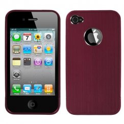 Apple iPhone 4s Red Ironside Shield with Chrome Coating Metal