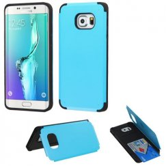Samsung Galaxy S6 Edge Plus Tropical Teal Inverse Advanced Armor Stand Case with Card Wallet