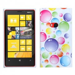 Nokia Lumia 920 Rainbow Bigger Bubbles Candy Skin Cover