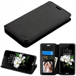 LG K8 Black Wallet with Tray