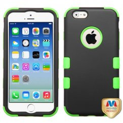 Apple iPhone 6s Rubberized Black/Electric Green Hybrid Case