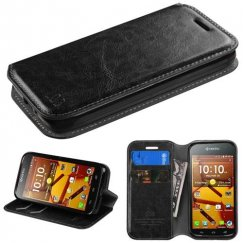 Kyocera Hydro Life / Hydro Icon Black Wallet with Tray