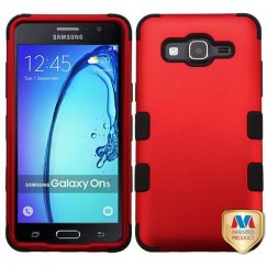 Samsung Galaxy On5 Titanium Red/Black Hybrid Case