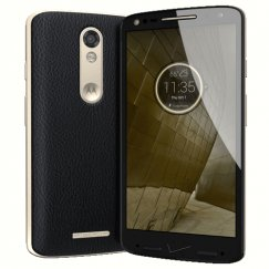 Motorola Droid Turbo 2 32GB XT1585 Android Smartphone for Page Plus Wireless - Black Leather Smartphone in Black