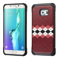 Samsung Galaxy S6 Edge Plus Modern Argyle Backing/Black Astronoot Case