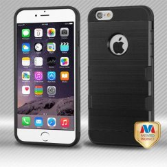 Apple iPhone 6 Plus Black/Black Brushed Hybrid Case
