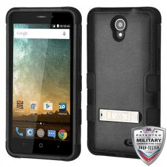 ZTE Prestige 2 Natural Black/Black Hybrid Case with Stand