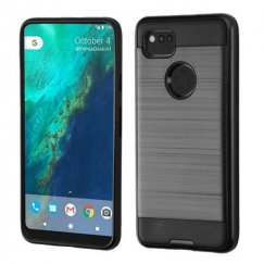 Google Pixel 2 XL Black/Black Brushed Hybrid Case